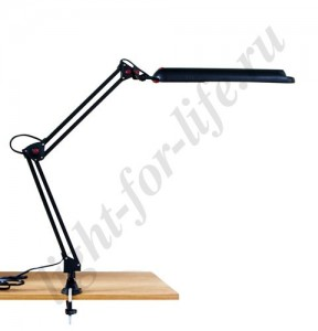 DE1210, настольная лампа на струбцине, ESТ 11W 230V 2G7 черный с лампой