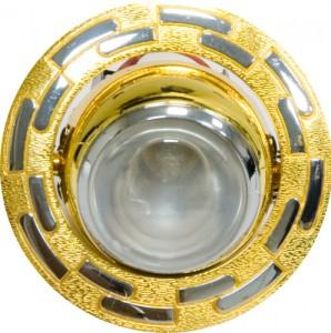 1726, светильник потолочный, R50  золото-хром