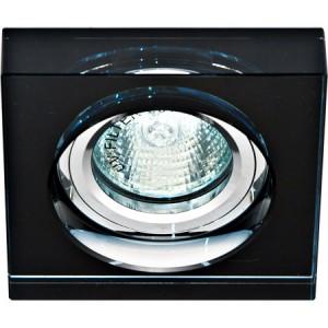 8180-2, светильник потолочный, MR16 50W G5.3 черный, серебро