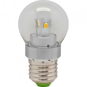 LB-40, лампа светодиодная, 6LED(3,5W) 230V E27 2700K маленький шар G45