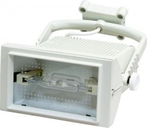 AL113, прожектор металлогалогенный с лампой и пускателем, 70W 230V R7S  белый