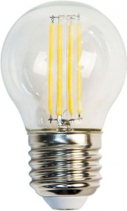 LB-61, 2700К Е27 4LED(5W) 230V филамент G45, лампа светодиодная