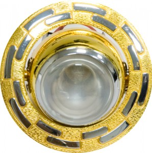 1726, светильник потолочный, R39  золото-хром
