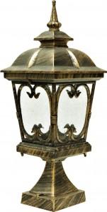 PL136, светильник садово-парковый, 100W 230V E27 черное золото