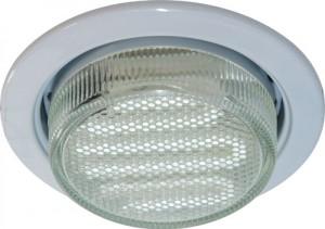 DL53, светильник потолочный встраиваемый с энергосберегающей лампой, 11W 230V  GX53, с лампой, белый