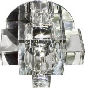 C1037A, светильник потолочный, JCD G9 с прозрачным стеклом, хром, с лампой