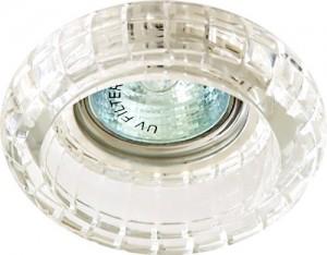 Светильник потолочный, JCDR G5.3 с прозрачным стеклом, хром, с лампой, CD2107