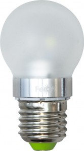 LB-40, лампа светодиодная, 6LED(3,5W) 230V E27 2700K маленький шар матовый G45