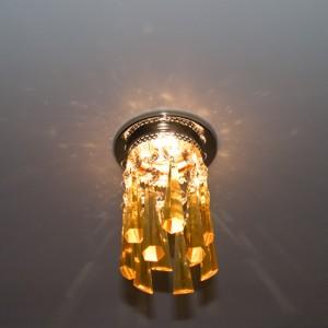A238(A2038), светильник потолочный, JCDR G5.3 хром желтый, с лампой