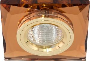 8150-2, светильник потолочный, MR16 G5.3 коричневый + золото