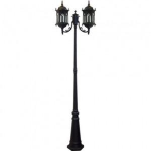 PL119, светильник садово-парковый, 60W 230V E27 черное золото
