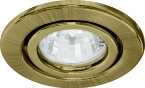 DL11, светильник потолочный встраиваемый, MR16 G5.3 античное золото