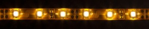 LS604, светодиодная лента влагозащищенная, цвет свечения: теплый белый, 5m, 4.8W/m