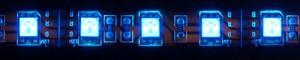 LS607, светодиодная лента влагозащищенная, цвет свечения: синий, 5m, 14.4W/m