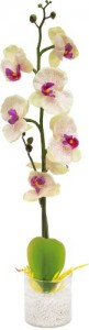 """PL307 Интерьерный декоративный светильник """"Орхидея"""",белые цветы"""