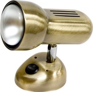 Светильник настенный, 1xR63 Е27 с выключателем, античное золото, RAD63S-S