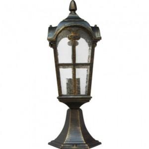 PL105, светильник садово-парковый, 60W 230V E27 черное золото