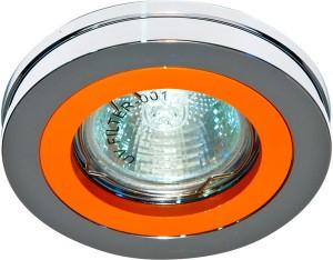 DL212, светильник потолочный,  MR16 G5.3 хром, оранжевый