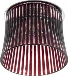 CD2319, светильник потолочный, JCD9 35W G9 с красным стеклом, хром с лампой