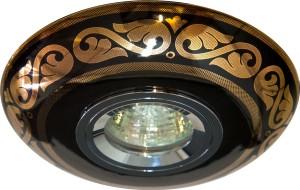 С2525, светильник потолочный встраиваемый,  MR16  12V G5.3 золото,черный