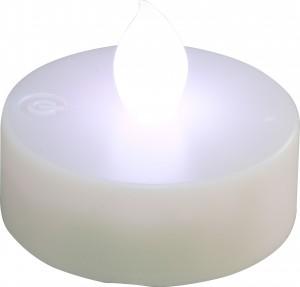 """FL075, светодиодная свеча """"таблетка"""", мультиколор"""