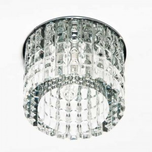 CD2109, светильник потолочный, JCD9  35W с прозрачным стеклом, хром