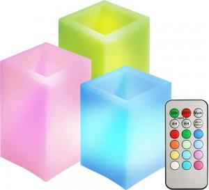 FL074, комплект квадратных светодиодных свечей разной высоты