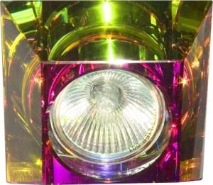 C2019SQ, светильник потолочный, MR16 G5.3 с многоцветным стеклом, хром