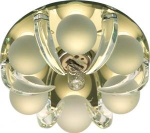 CD2530, светильник потолочный, JCD9 G9 c прозрачным и матовым стеклом, золото, с лампой