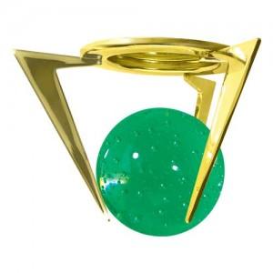 1782, светильник потолочный, MR16 G5.3 золото зеленый