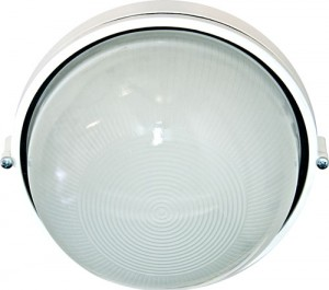 НПО11-100-01, светильник пылевлагозащищенный накладной, 230V Е27, белый