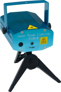 F101, проектор для лазерного шоу на треноге, красный-зеленый 5V(с адаптером)