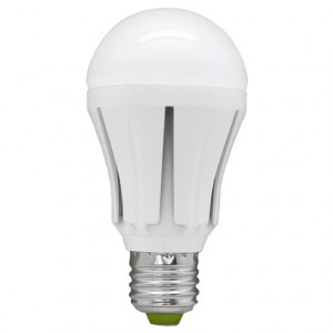 LB-49, лампа светодиодная, 30LED(12W) 230V E27 4000K  A60 полушар