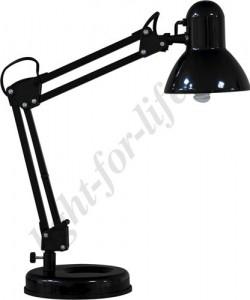 DE1412, настольный светильник, ESB 9W 230V E27 черный с лампой