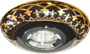 С2626, светильник потолочный встраиваемый, MR16  12V G5.3  золото, черный