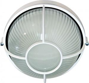 НПО11-100-04,  светильник пылевлагозащищенный накладной, 230V Е27, белый