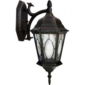 PL161, светильник садово-парковый, 60W 230V E27 черное золото