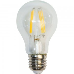 LB-57, 4000K 6LED(7W) 230V E27 филамент A60, лампа светодиодная