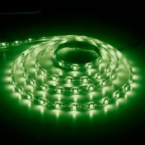 LS604, светодиодная лента влагозащищенная, цвет свечения: зеленый, 1m, 4.8W/m