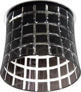 CD2321, светильник потолочный, JCD9 35W G9 с черным стеклом, хром с лампой
