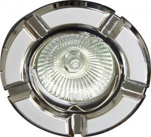 098Т-MR16, светильник потолочный,  серый-хром