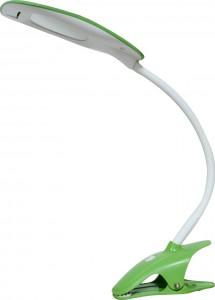 DE1708, светильник светодиодный на клипсе, 5W, с проводом 140см и проводом USB 100мм, зеленый