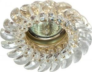 CD2316, светильник потолочный, MR16 G5.3 с прозрачным стеклом, золото, с лампой