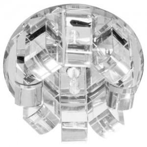 1655, светильник потолочный, JC G4 с белым стеклом, хром, с лампой