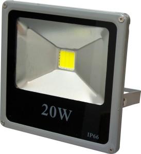 LL-272, прожектор светодиодный тонкий, 1LED/20W-белый 230V 6500К серый (IP65)