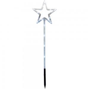 LT044 Светодиодная новогодняя фигура Звезда на штативе, высота 70см