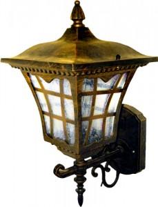6137M, светильник садово-парковый, 100W 230V E27 черное золото