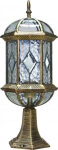 PL171, светильник садово-парковый, 60W 230V E27 черное золото
