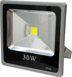 LL-273, прожектор светодиодный тонкий,  1LED*30W-белый 230V 6500K серый (IP65)