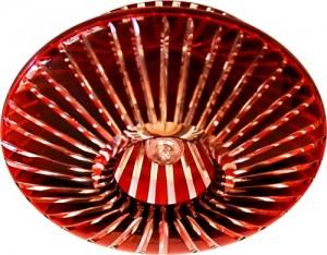 CD2116, светильник потолочный, JCD9 G9 с красным стеклом, с лампой